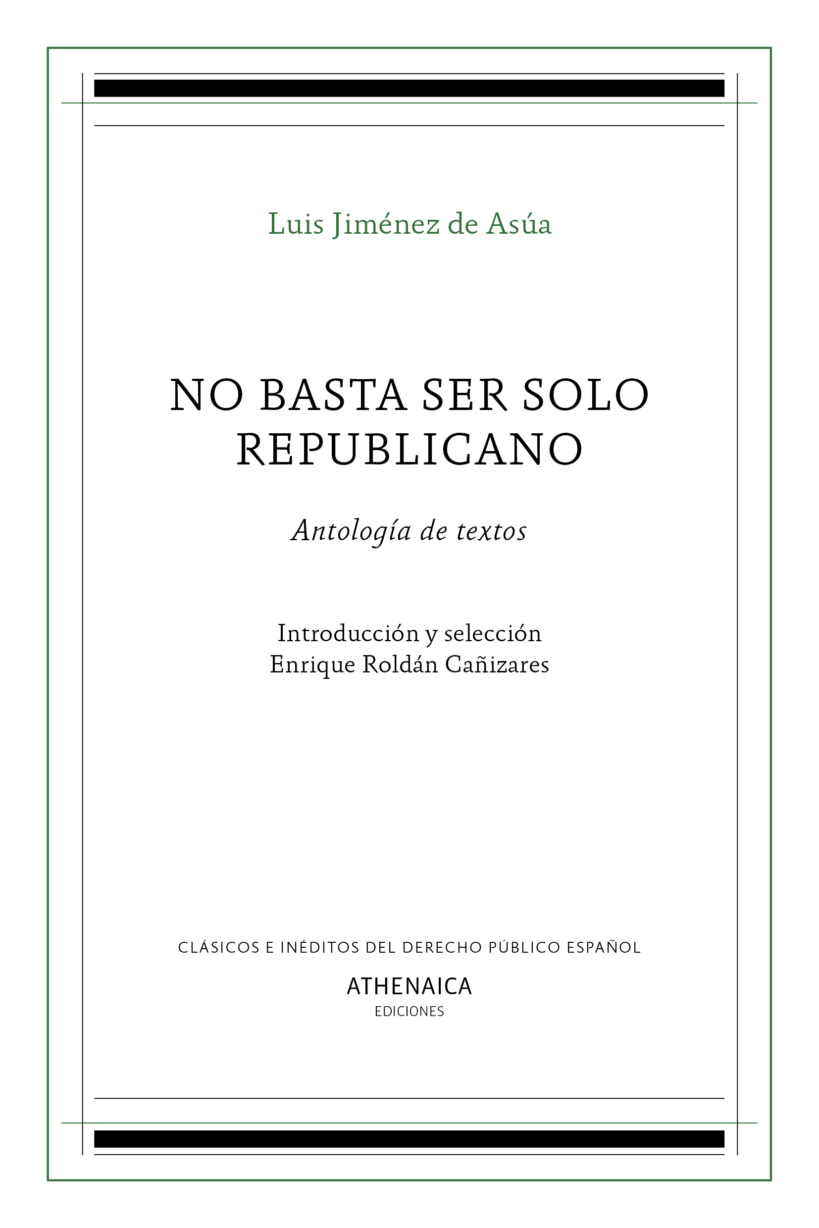 No basta ser solo republicano